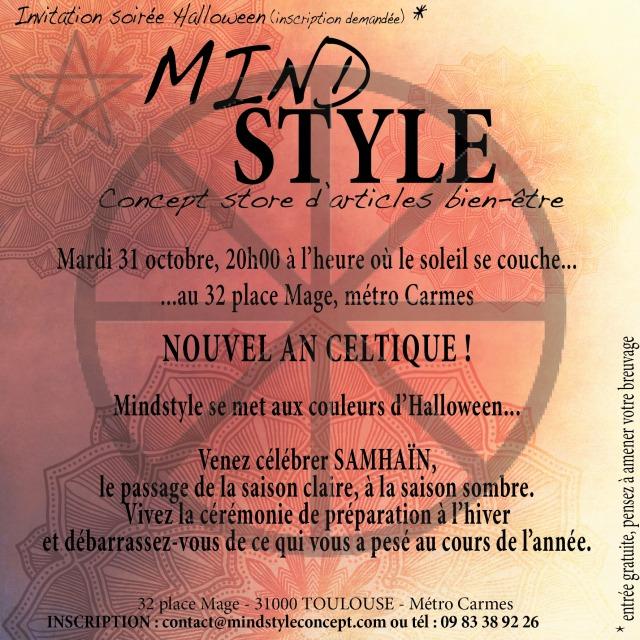 Invitation SOIRÉE Halloween Mindstyle 2017