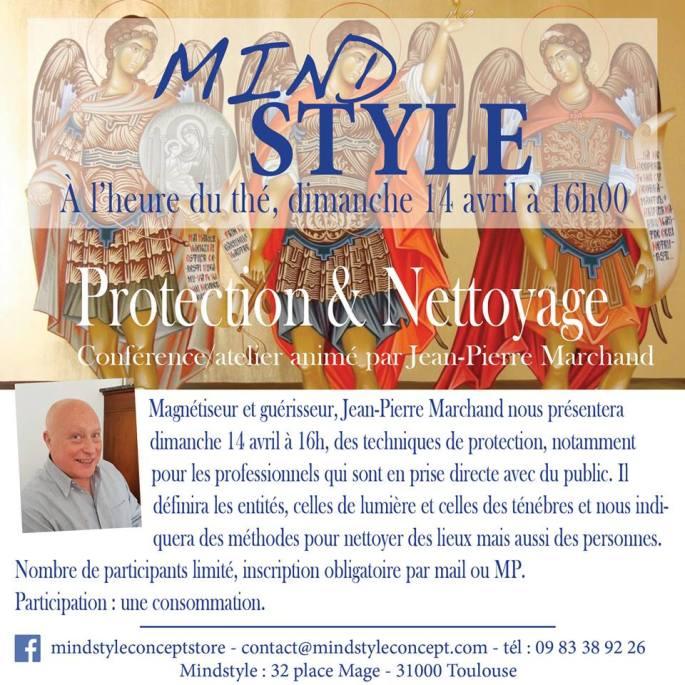Flyer Jean Pierre Marchand, guérisseur magnétiseur conférence protection et nettoyage