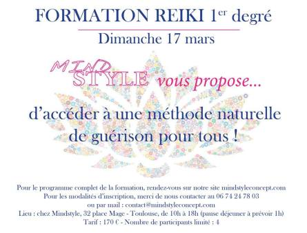 Formation Reiki 17 mars