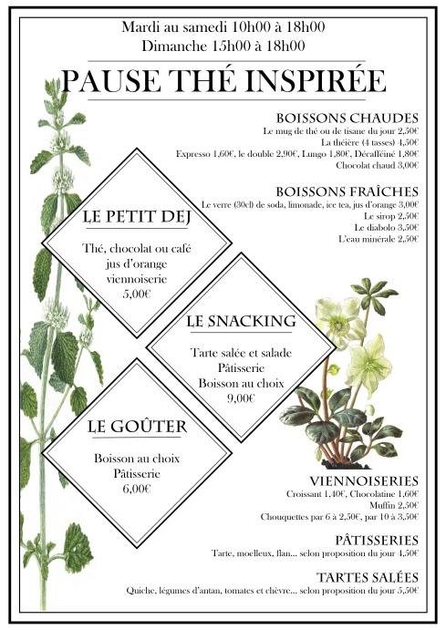 carte salon de thé avril 2019