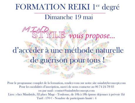 Formation REIKI 1er degré le 19 mai