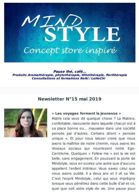 Newsletter N°15 mai 2019
