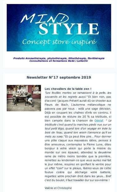 Newsletter Mndstyle Sept 2019