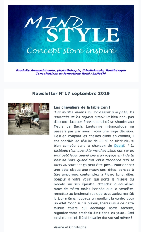 Newsletter Mndstyle Sept 2019